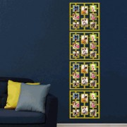 Porta Retrato de Parede Mural Painel PVC 8 Fotos CBR-1079 - Quadrado