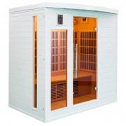 items-france SOLEIL BL 4 PL - Sauna infrarouge soleil blanc 4 places 175x120x190cm