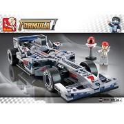 "Sluban 1:24 F1 ""Silver Arrows"" Racing Car-257PCS ( M38-B0352 ) (Lego compatible)"