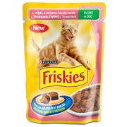 Friskies Adult Cat Vitel si Curcan - 100g