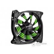 Ventilator Sharkoon Cooler Blades Green 12cm, negru-dungi verzi