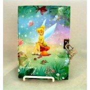 "Tinkerbell ""My Diary"" with Lock and Key - Disney Fairies - Peter Pan Fairy Private Journal"