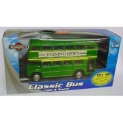 NEW TEAMSTERS CLASSIC 'NEWS' DOUBLE DECKER BUS TOY MODEL VEHICLE RED & WHITE by Halsall