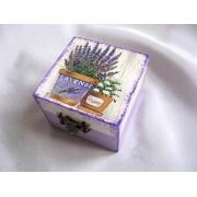 Cutie din lemn - lavanda - 25706