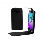Para Samsung Galaxy J3 (2016) / J320 / J3109 Textura Lisa Vertical Flip Funda De Cuero Bolsa De La Cintura Con Hebilla Magnetica (negro)