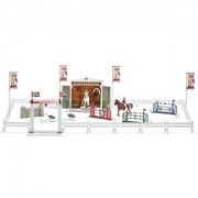 Schleich Unisex Figurines and playsets White Big horse show with horses