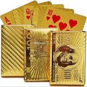 Vortex Toys 24K Gold Poker Playing United State of America Card game Cards