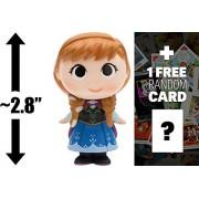 "Anna: ~2.8"" Funko Mystery Minis x Disney Princess Mini Vinyl Figure + 1 FREE Classic Disney Trading Card Bundle (075897)"