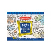Blue Jumbo Colouring Pad of 50 by Melissa & Doug