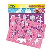 Lena 65766 - 2 Character Stencil Fairies and Princesses, Dimensions: Approximately 26 x 19 cm