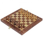 Craft Art India Wooden Folding Non- Magnetic Chess With Storage Of Pieces Set 12 X 12 Inches Cai-Hd-0283