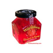 Wild Hibiscus Flowers in Syrup 400g 20 Flowers