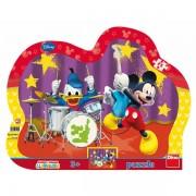 Puzzle cu rama-Formatia lui Mickey Mouse (25 de piese)