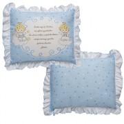 Travesseiro Com Oração do Anjinho da Guarda Azul