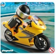 Playmobil 5116 Super Racer Motorcycle With Rider