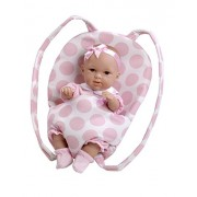 Arias 33 centimetri Eleganza Laila Doll con Polka Baby Carrier in a Bag (rosa)