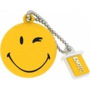 USB Flash Drive Emtec Smiley World Take It easy USB 2.0 8GB Galben