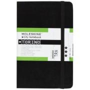 Moleskine City Notebook TURIN Couverture rigide noire 9 x 14 cm