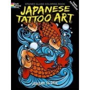 Japanese Tattoo Art Stained Glass Coloring Book by Jeremy Elder