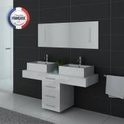 Distribain Meubles double vasque DIS988B coloris Blanc