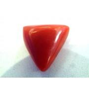 4.21 Carat Natural Italian Triangle Red Coral Moonga Gemstone