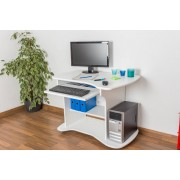 Steiner Shopping Furniture Desk solid pine wood painted white Junco 197 - Dimensions 75 x 100 x 55 cm