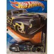 Hot Wheels 2011 Heat Fleet 8/10 Tail Dragger Lightning White and Blue Flames on Navy 98/244 by Hot Wheels