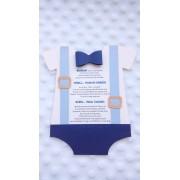 Invitatie de botez cu bretele mobile
