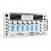 IBIZA DJM - 102, mixer 4 canale, LED-uri, ecou, battle alb
