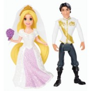 Disney Princess Little Kingdom Magiclip Rapunzel Fairytale Wedding Dolls by Mattel - Import (Wire Transfer) by Mattel