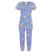 Ringella Bloomy dames pyjama blauw van Ringella