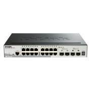 Switch Smart 16 port-uri. Gigabit. 2 sloturi SFP, 2 sloturi 10G SFP+, Stackabil, D-LINK (DGS-1510-20)