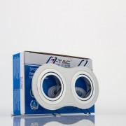 Aro GU10 x2 orientável V-TAC redondo alumínio escovado