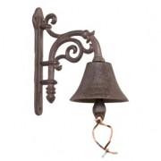 Glocke,Türglocke,Wandglocke aus Gusseisen in antik-braun