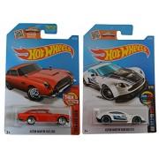 Hot Wheels 2016 Mild to Wild 1963 Aston Martin DB5 (Red) & Aston Martin Vantage GT3 2-Car Set