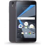 "Telefon Mobil BlackBerry DTEK50, Procesor Quad-Core 1.5 GHz / 1.2 GHz, IPS LCD capacitive touchscreen 5.2"", 3GB RAM, 16GB Flash, 13MP, Wi-Fi, 4G, Android (Negru) + Cartela SIM Orange PrePay, 6 euro credit, 4 GB internet 4G, 2,000 minute nationale si inter"