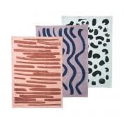 ferm Living - Brush Geschirrtücher (3er-Set), multi
