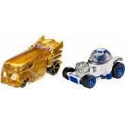 Set Masinute Mattel Hot Wheels Star Wars R2-D2 Si C-3po