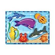 Melissa & Doug Wooden Chunky Puzzle - Sea Creatures