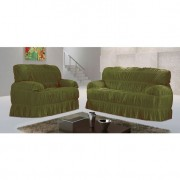 Capa para sofá Malha Verde Oliva VI 70x200 cm - 3 e 2 lugares