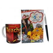 Saugat Traders™ Gift For Teacher - Greeting Card, Coffee Mug & Parker Pen