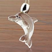 Led svietiaci náhrdelník v tvare delfínika