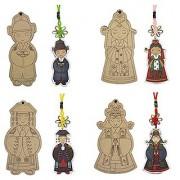 Korean Hanbok Wood Art -4 (Bride&Groom&King&Queen)