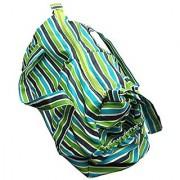 Green Breeze Imports Green Stripe Diaper Bag