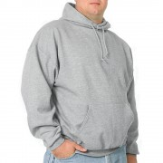 Jerzees Midweight Hooded Pullover Sweatshirt 3xl Gray