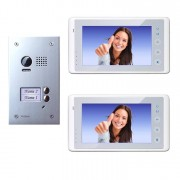 Anykam DT603D+ 2x DT27W Video Türsprechanlage Gegensprechanlage Kamera 2-Familienhaus