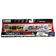 Jakks Pacific Year 2013 Power Trains Series 3 Battery Powered Motorized Train Engine Set - SAFARI FR