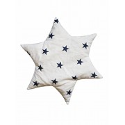 Linden 36156 colore rosso ciliegia nucleo cuscino con decorazione Stella, bianco con motivo a stelle