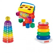 Fisher Price Babys First Blocks with Stack And Roll Cups & Brilliant Basics Rock a Stack