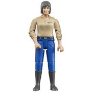 Bruder Woman with Light Skin/Blue Jeans Toy Figure